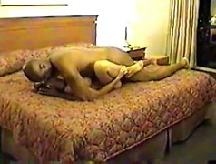 Cuckold with the camera films his curvy slut of a wife sitting on black dick