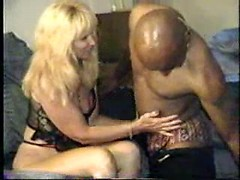 Blonde amateur mom licked and fucked by nasty black dude