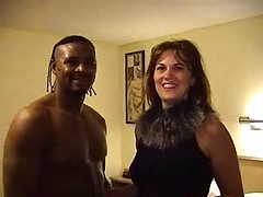 Hotwife meets a black guy in a hotel room while her husband films