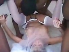 Best screw my wife session with my bitch taking two black cocks