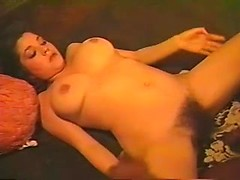 Retro cuckold porn with white busty wife getting black fucked and jizzed